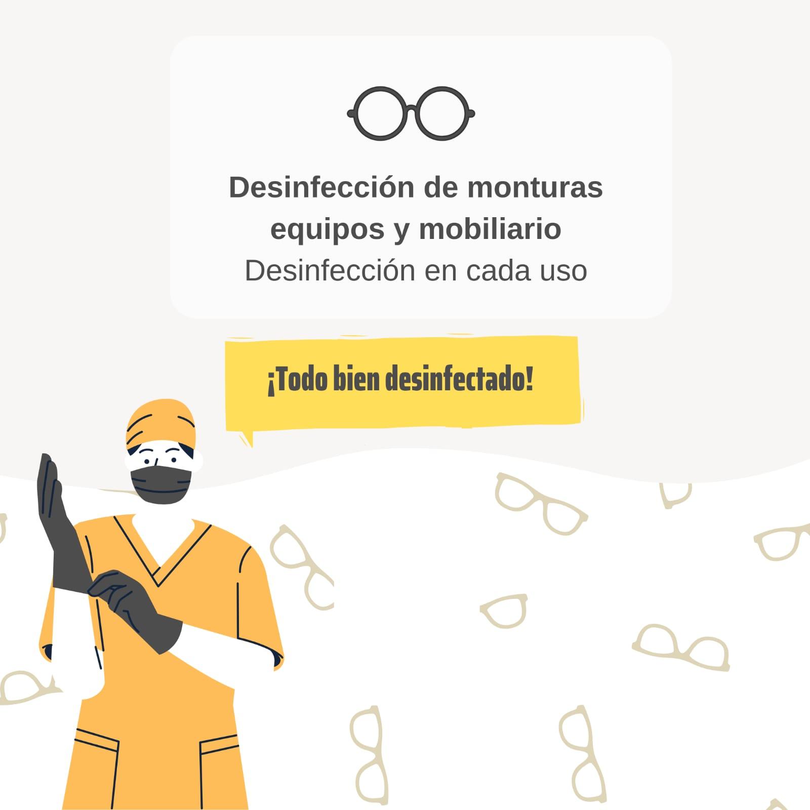 Desinfección de equipo y mobiliario